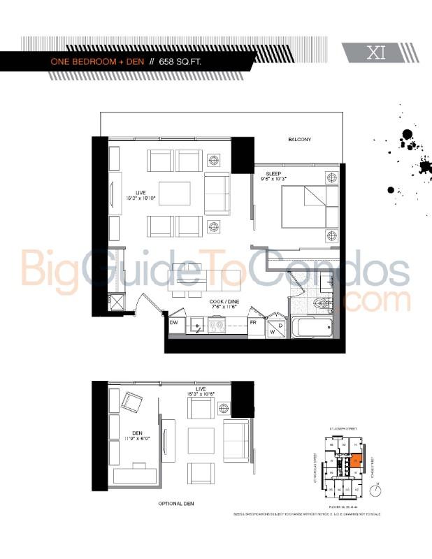 5 Condos Floor Plans
