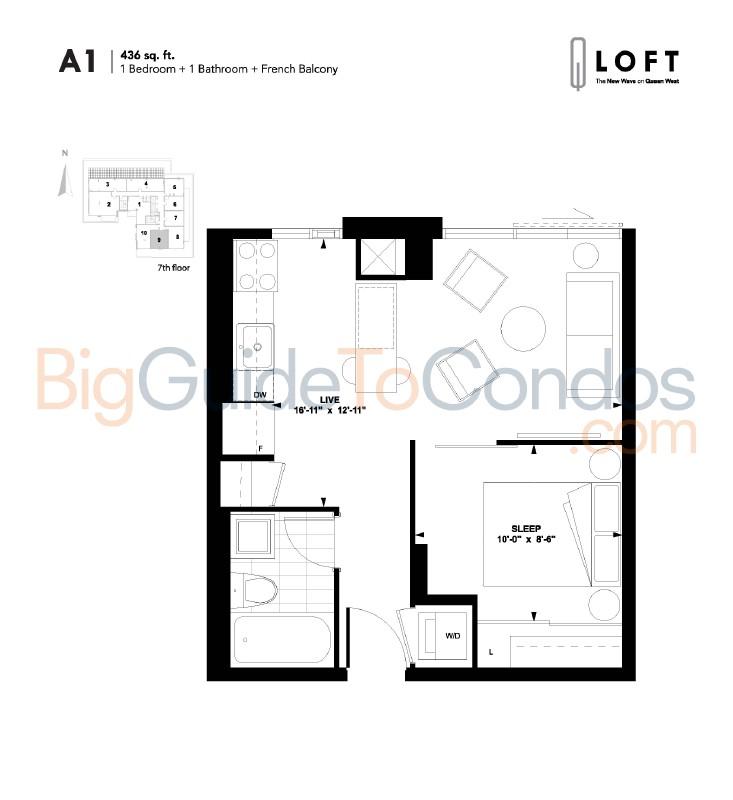 1205 queen st w reviews pictures floor plans listings for Apartment floor plans toronto